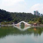台北にある錦帯橋、自然に囲まれた市民の憩いの場「大湖公園」