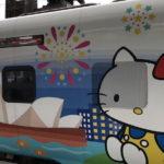 世界で台湾鉄道にしかない「ハローキティー号」車体側面いっぱいに。。