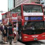 台北市内観光は2階建て観光バスに乗って散策が一番!!