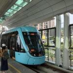 淡海軽軌(LRT)ライトレールで緑山線と藍海線の乗継ぎ駅「浜海沙崙」