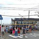 江の島から鎌倉まで江ノ電に沿って歩いてきました。